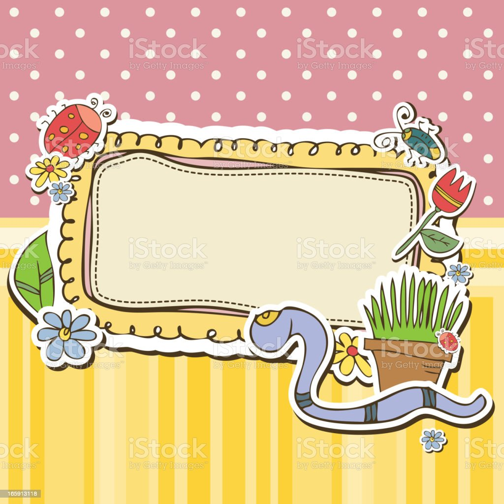 Cute Garden Frames Stock Vector Art & More Images of Art And Craft ...
