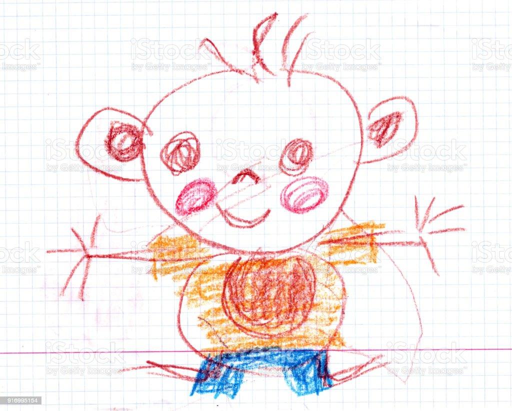 Cute hand drown Boy illustration vector art illustration