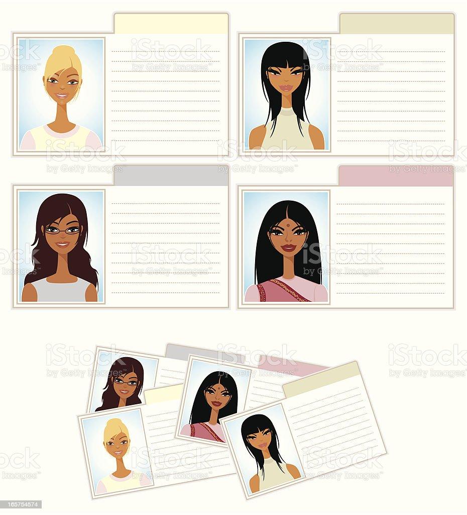 Cute Index File Cards vector art illustration