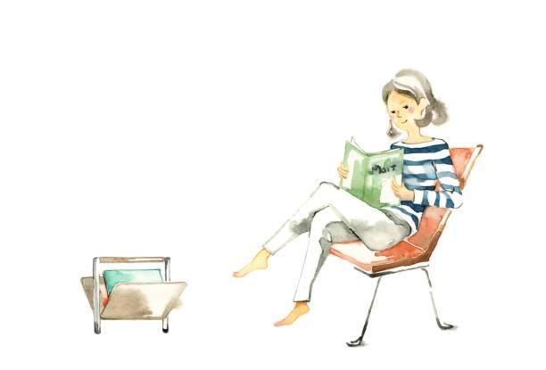 stockillustraties, clipart, cartoons en iconen met schattige mama - woman home magazine