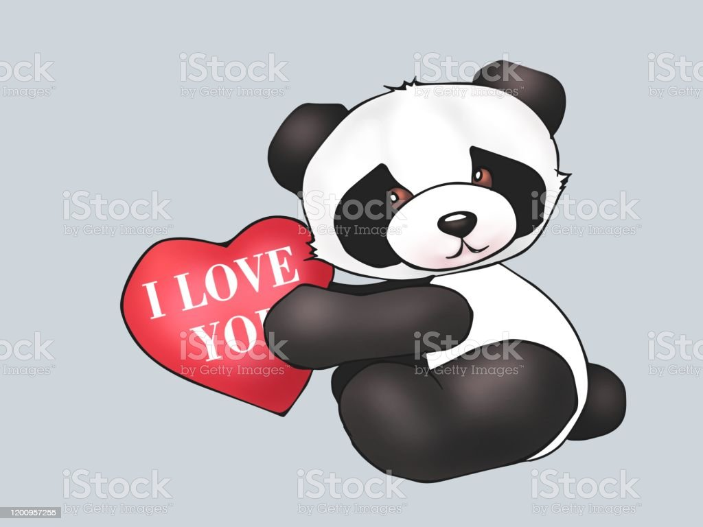 Anxiety Stuffed Animal, Cute Panda Teddy Bear Toy Toys Postcard Greeting Card Valentines Day Gift Textile Printing Printing Illustration Stock Illustration Download Image Now Istock