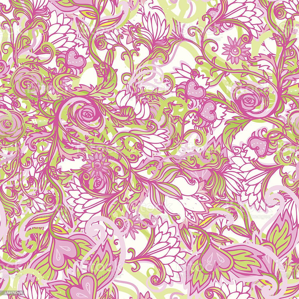 Cute Pink Floral Seamless Pattern Background Royalty Free Stock