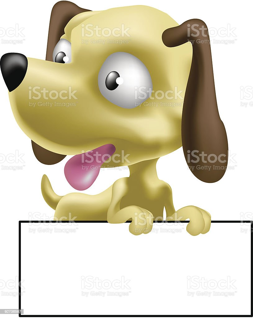 cute puppy dog - Royalty-free Adult stock vector