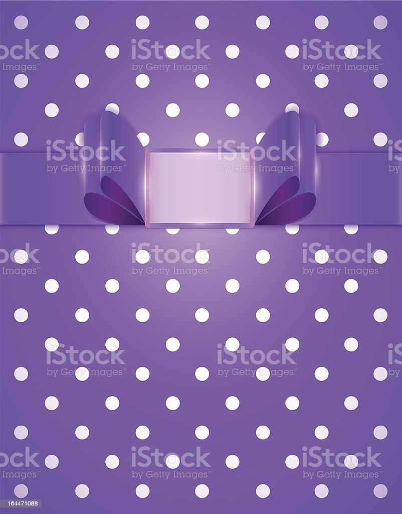 cute purple frame vector art illustration