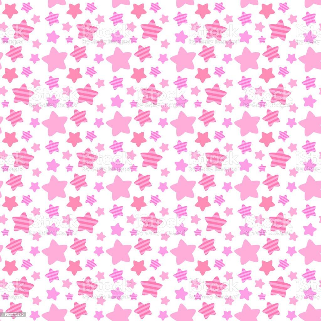 Cute random star seamless pattern vector art illustration