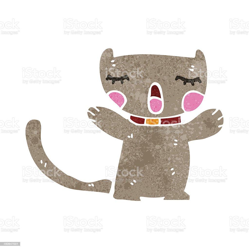 Vetores De Retro Gato Bonito Dos Desenhos Animados E Mais Imagens