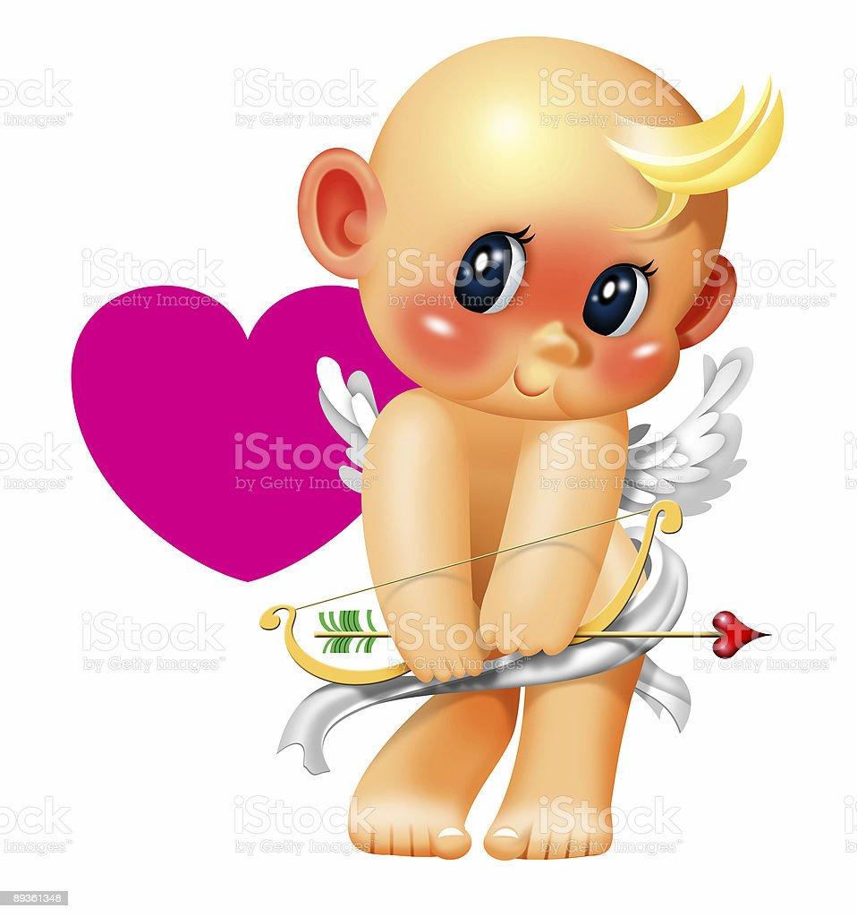 Cute Shy cupid royalty free cute shy cupid stockvectorkunst en meer beelden van begroeten