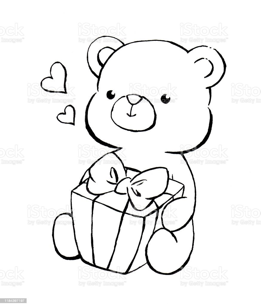 108 Teddy Bear. Coloring Book's Page Illustrations & Clip Art - IStock