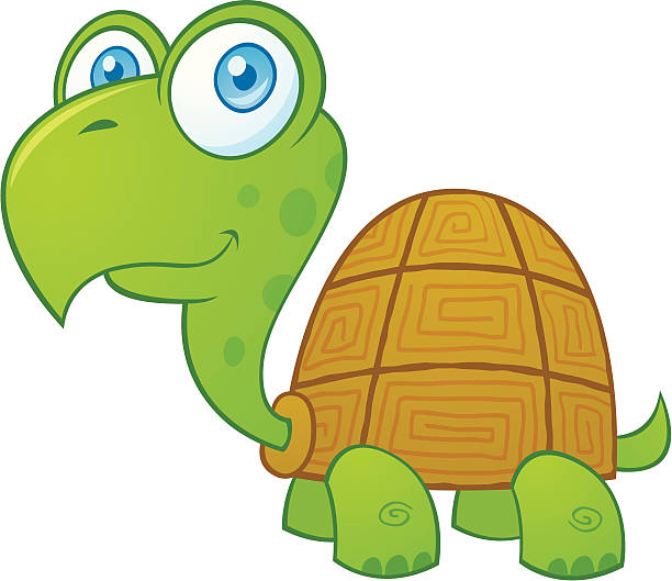 Cute Turtle Character vector art illustration