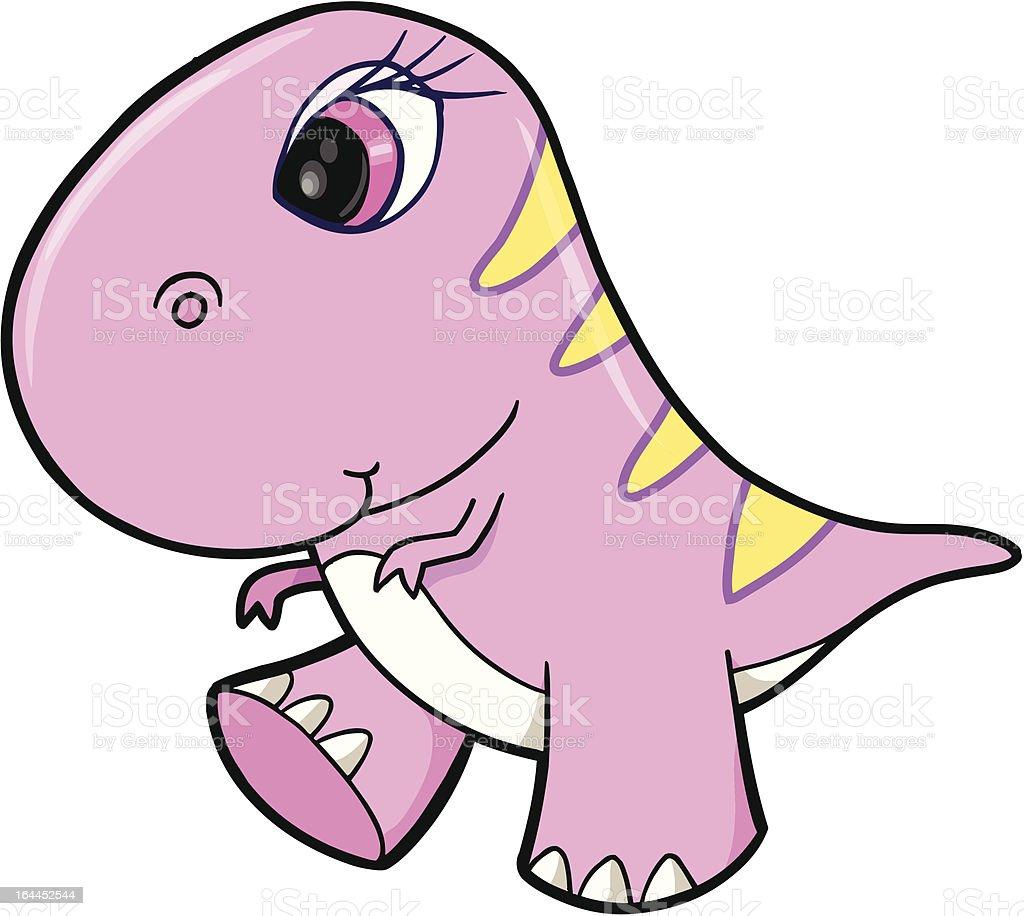 Süße Tyrannosaurus Rex Dinosaurier Stock Vektor Art und mehr Bilder ...