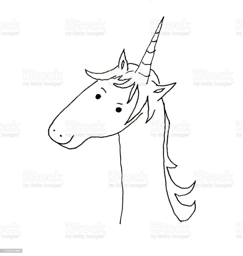 cute unicorn vector art illustration