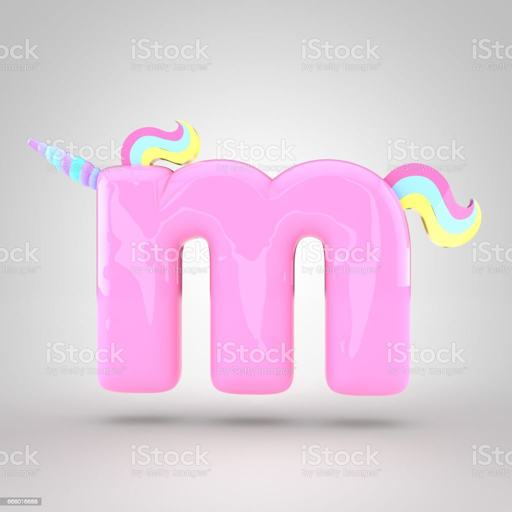 Cute Unicorn Pink Letter M Lowercase Stock Vector Art & More Images ...