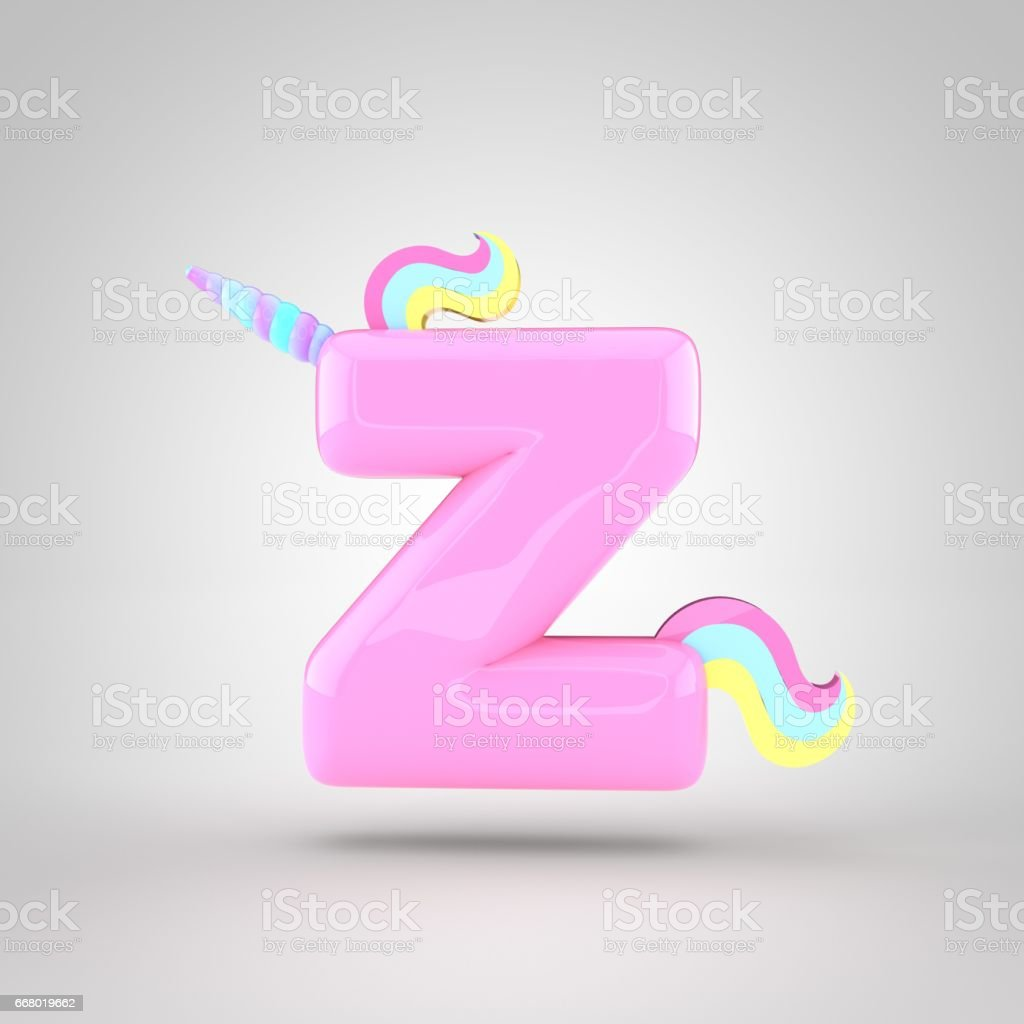 Cute Unicorn Pink Letter Z Lowercase Stock Vector Art & More Images ...
