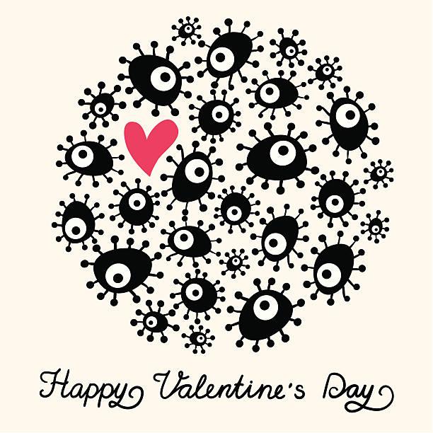 illustrazioni stock, clip art, cartoni animati e icone di tendenza di carino san valentino carta - love word