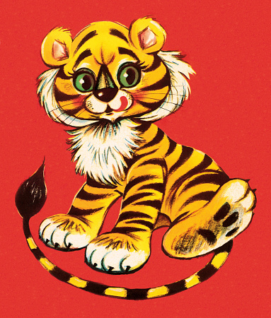 Cute Young Tiger