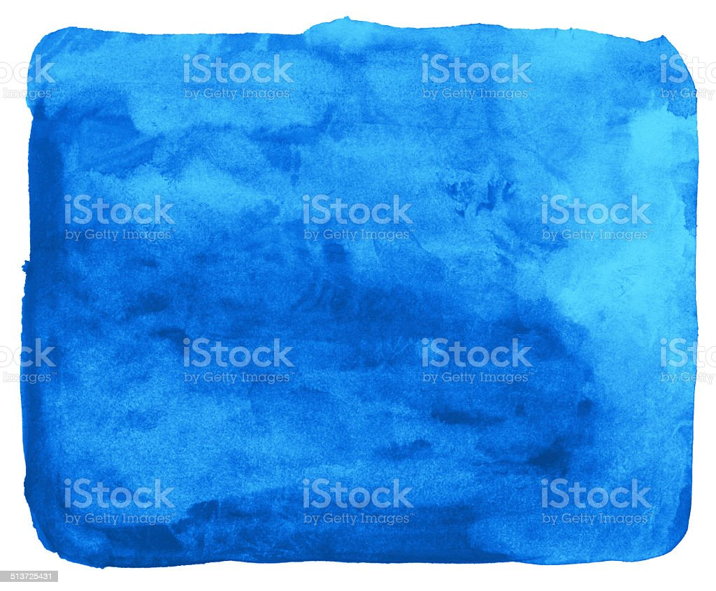 Cyan blue watercolor background painting vector art illustration