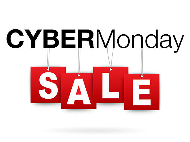 Cyber Monday add or flyer with percent sale US Flag and Blue SkyCyber Monday add or flyer with percent sale cyber monday stock illustrations