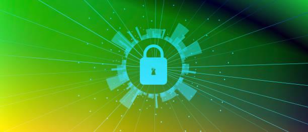 網路安全和資訊或網路保護向量藝術插圖