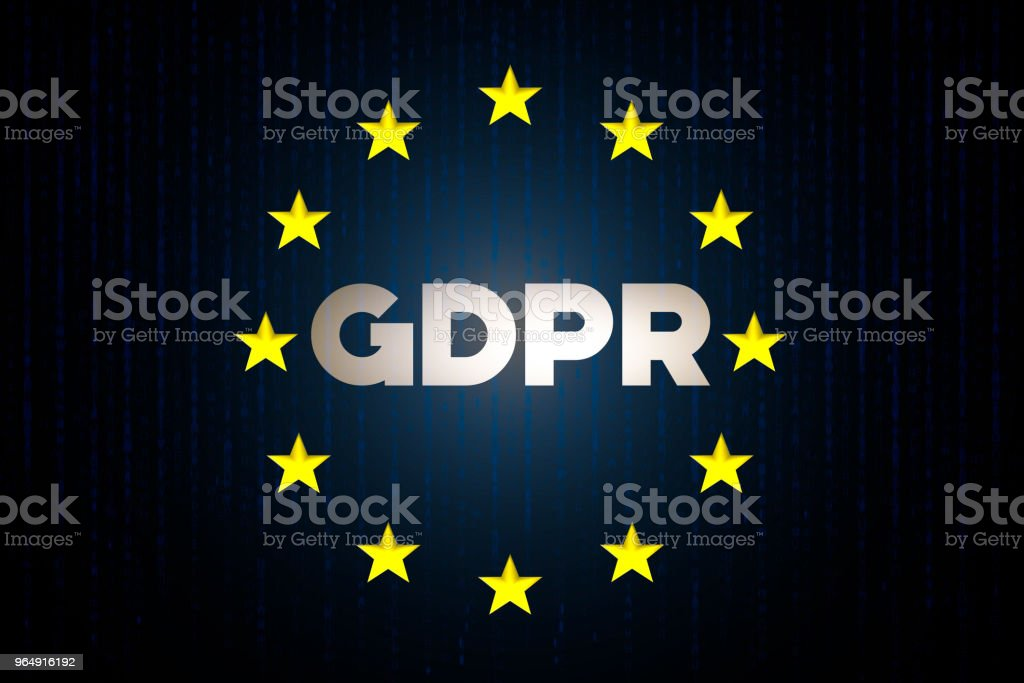 GDPR cyber security data concept with europe star flag with matrix on a blue background royalty-free gdpr cyber security data concept with europe star flag with matrix on a blue background stock vector art & more images of blue