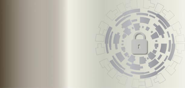 網路技術安全、網路保護向量藝術插圖