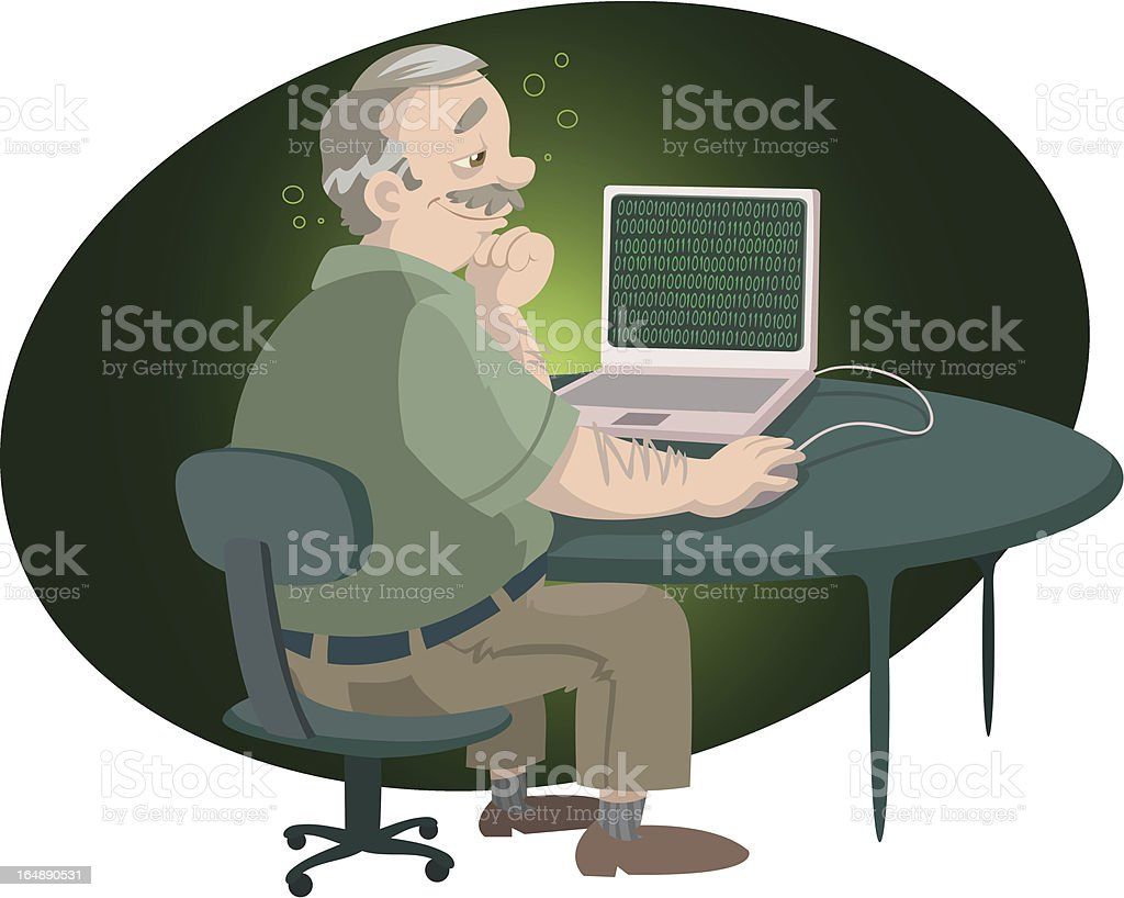 Cyber-love royalty-free cyberlove stock vector art & more images of active seniors