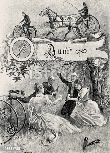 istock Cycling in June, slices of outdoor life 1266317851
