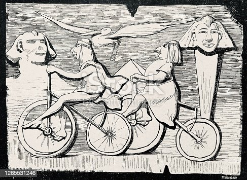 istock Cycling in the times of the pharaohs 1265531246