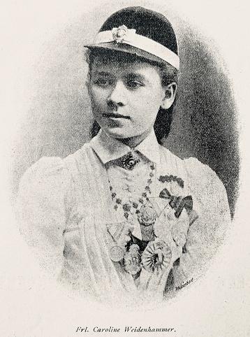Cyclist Fräulein Caroline Weidenhammer