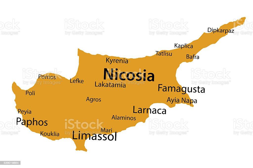 Karta Famagusta Cypern.Cyprus Vektorgrafik Och Fler Bilder Pa Asien Istock