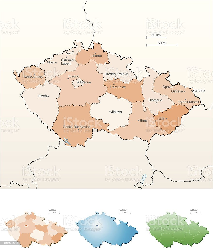 Czech Republic royalty-free stock vector art