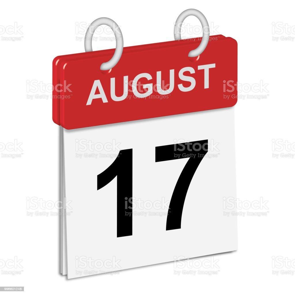 Daily Calendar Of Singleleaf Rings Red Spine 3dillustration