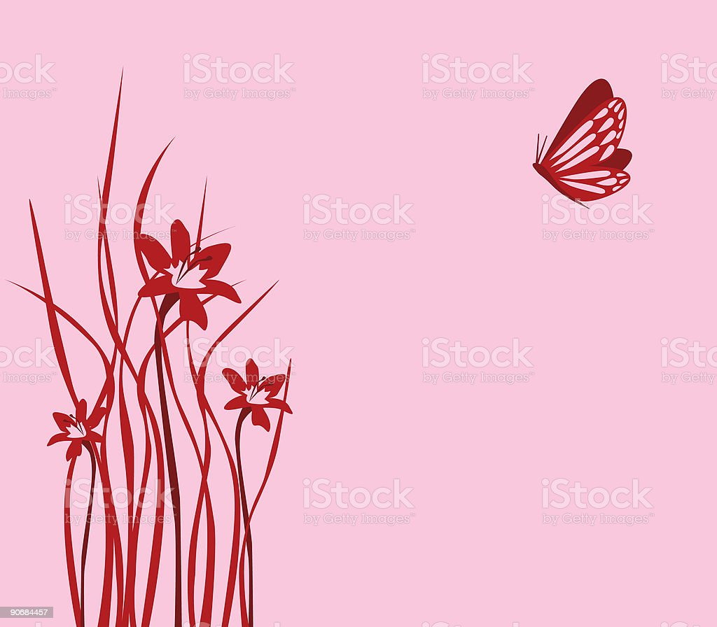 Dainty butterfly royalty-free stock vector art