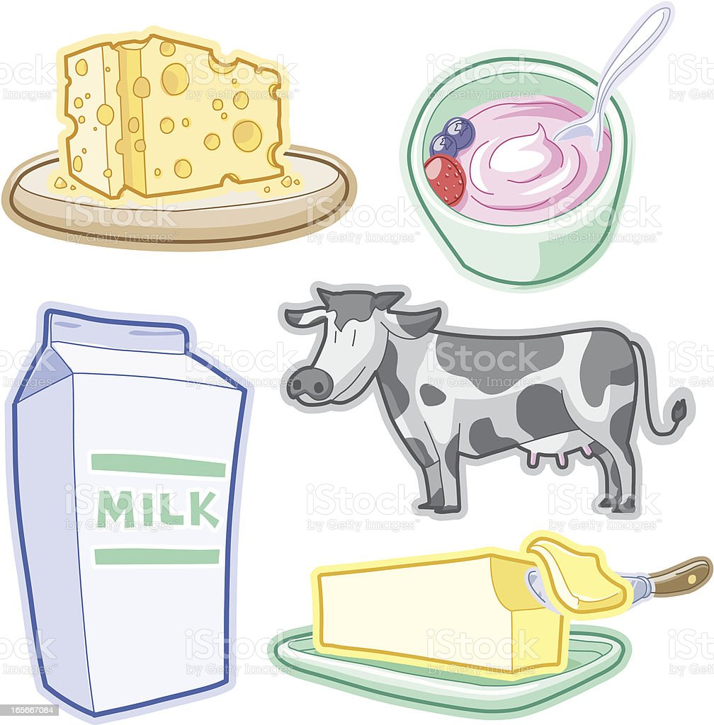 Dairy products royalty-free dairy products stock vector art & more images of animal