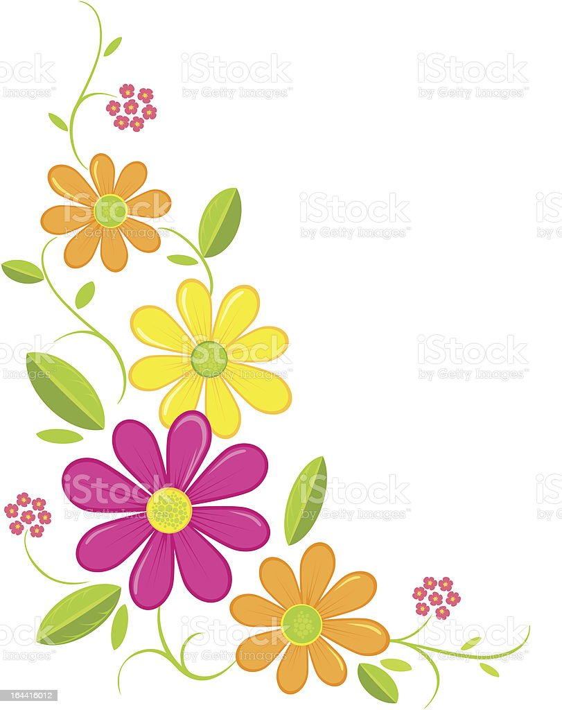 Daisy Corner vector art illustration