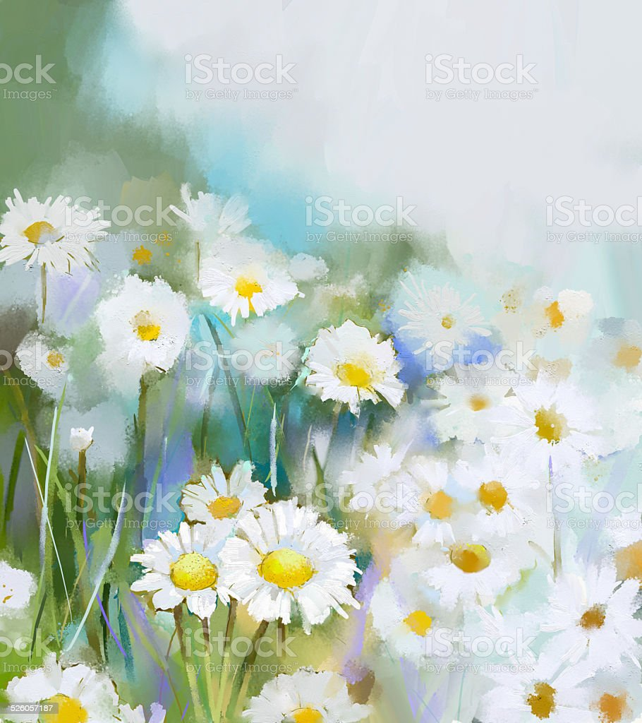Daisy Painting With Acrylic