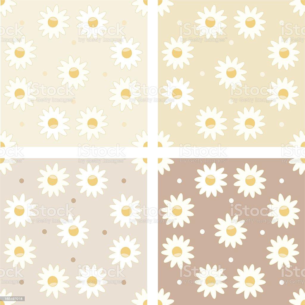 Daisy Tile royalty-free stock vector art
