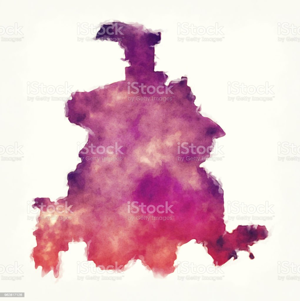 Dallas city watercolor map in front of a white background vector art illustration