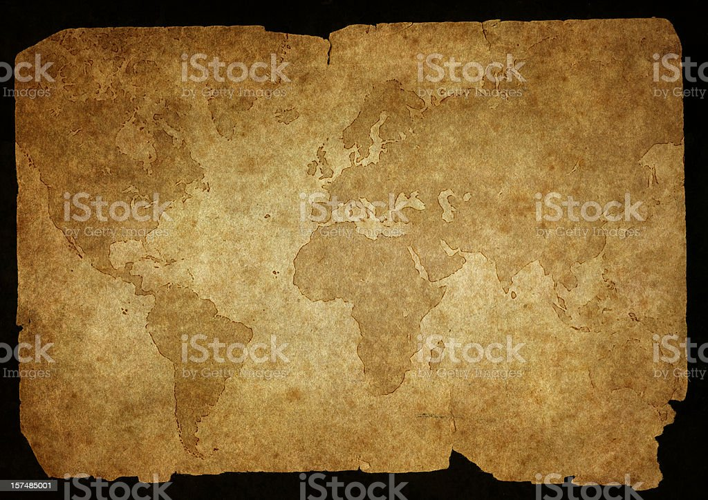 damaged old map royalty-free damaged old map stock vector art & more images of africa