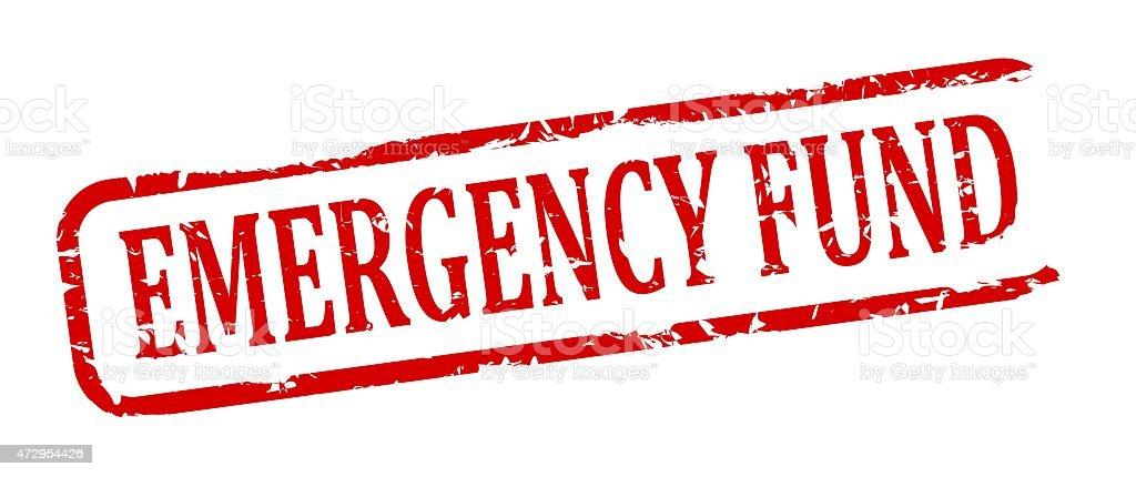 Damaged oval stamp - emergency fund vector art illustration