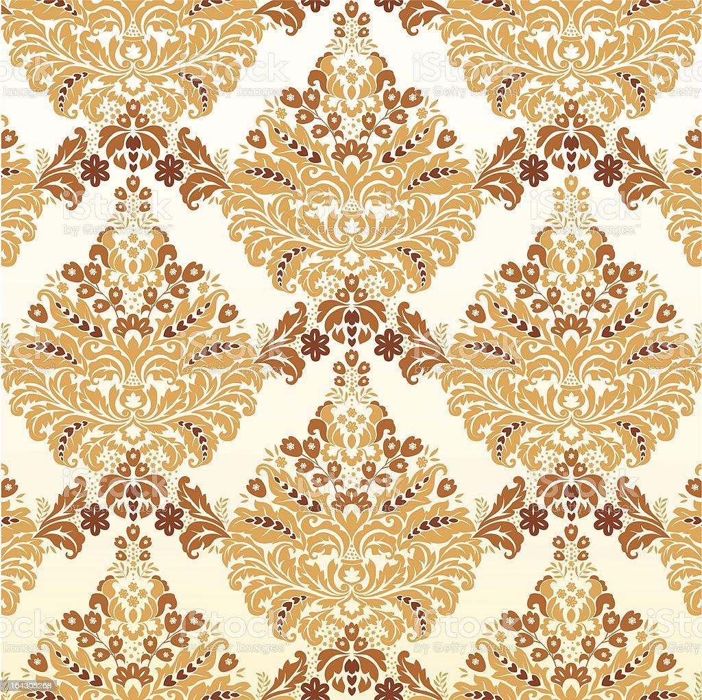 Damask pattern royalty-free stock vector art