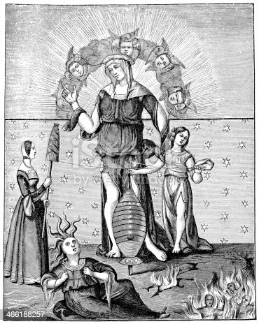 istock Dame Astrology with the Three Fates 466188257