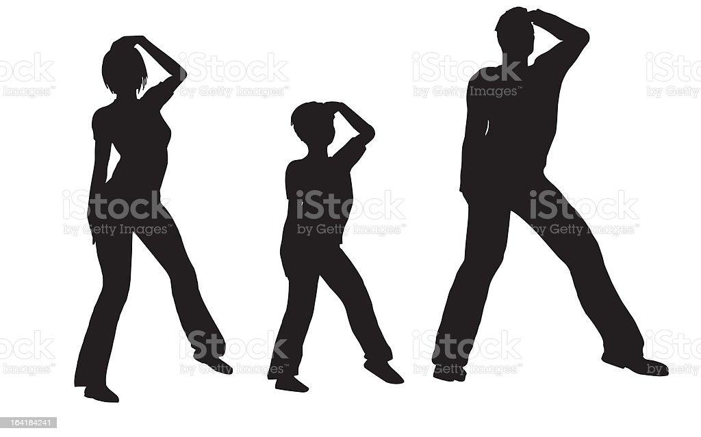 dance family vector royalty-free stock vector art