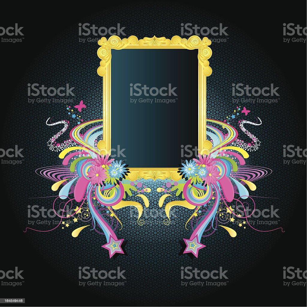 Dance funky frame royalty-free stock vector art