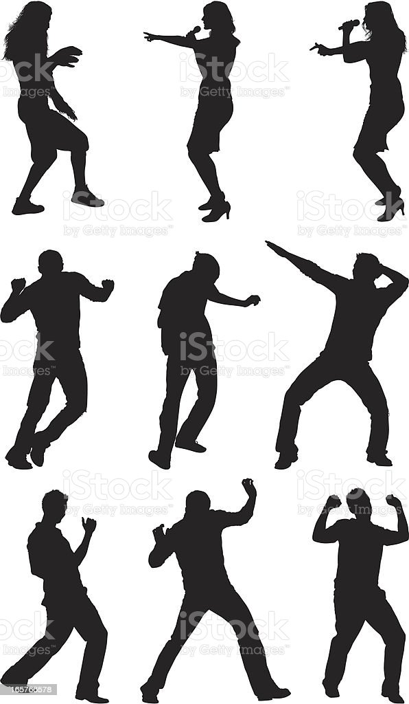 Dance Moves Men And Women Dancing Stock Illustration Download Image Now Istock
