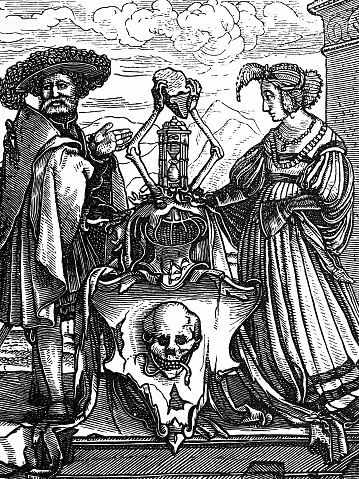 Dance of Death by Holbein: Coat of arms of death