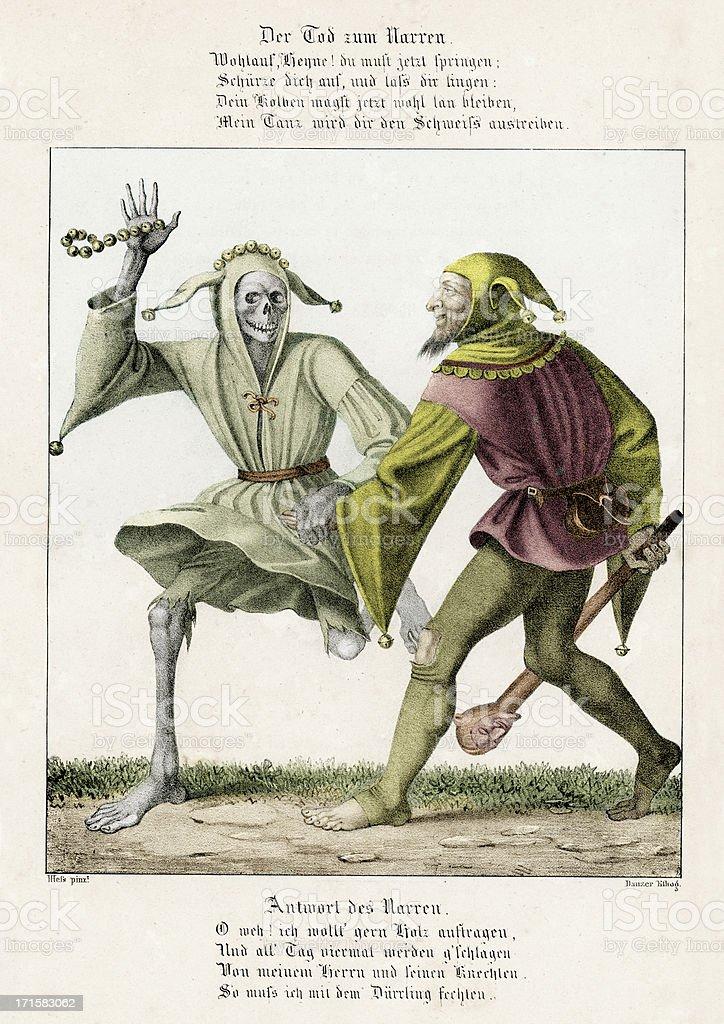 Danse de la mort-les Faire le bouffon - Illustration vectorielle