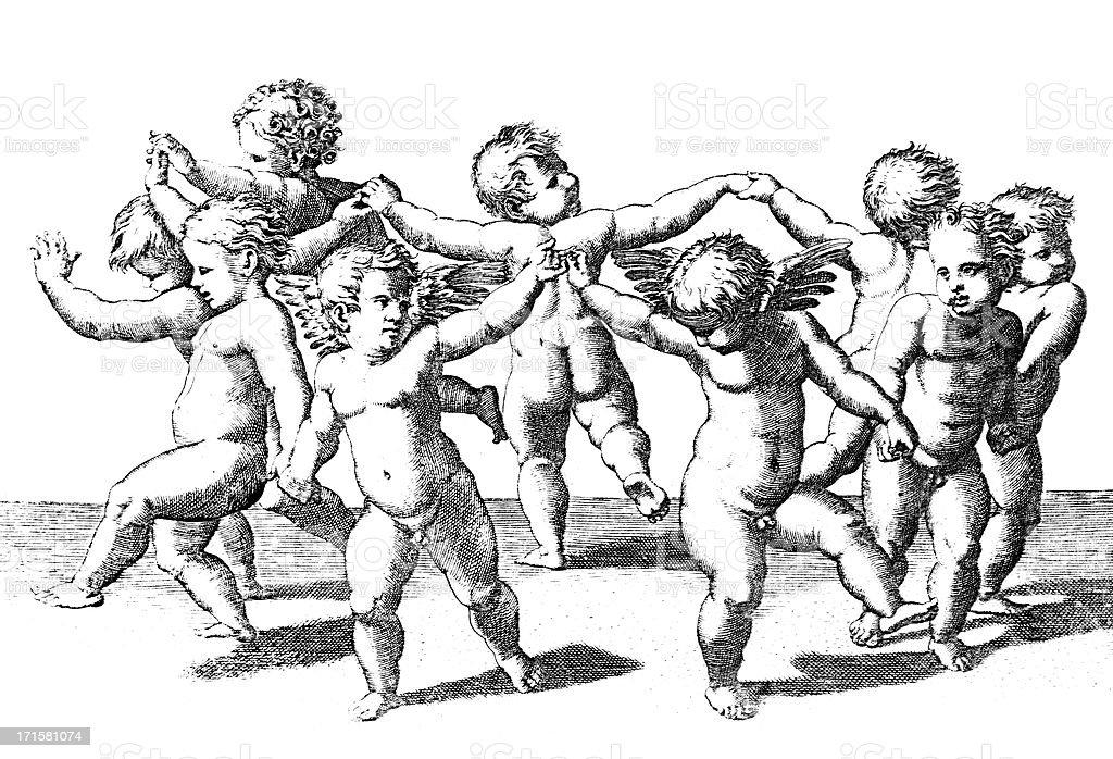 Danza de ama Raphael - ilustración de arte vectorial