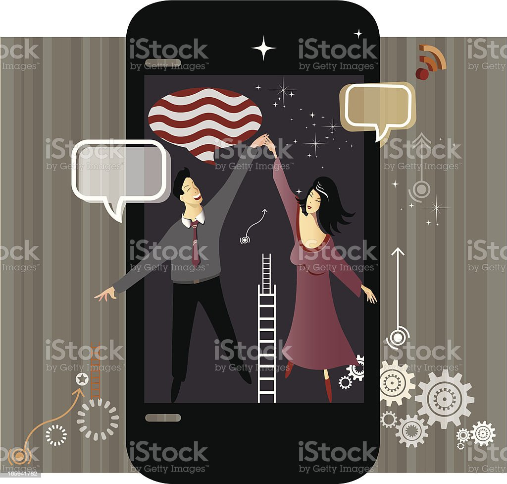 Dance with Mobility royalty-free stock vector art