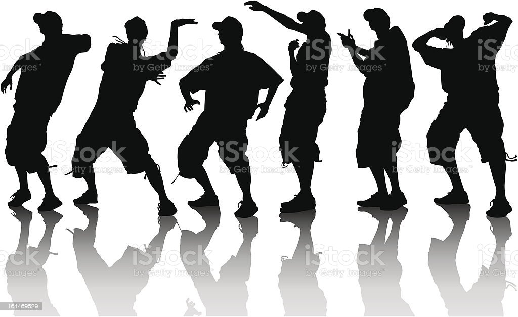 Dancer boys vector art illustration