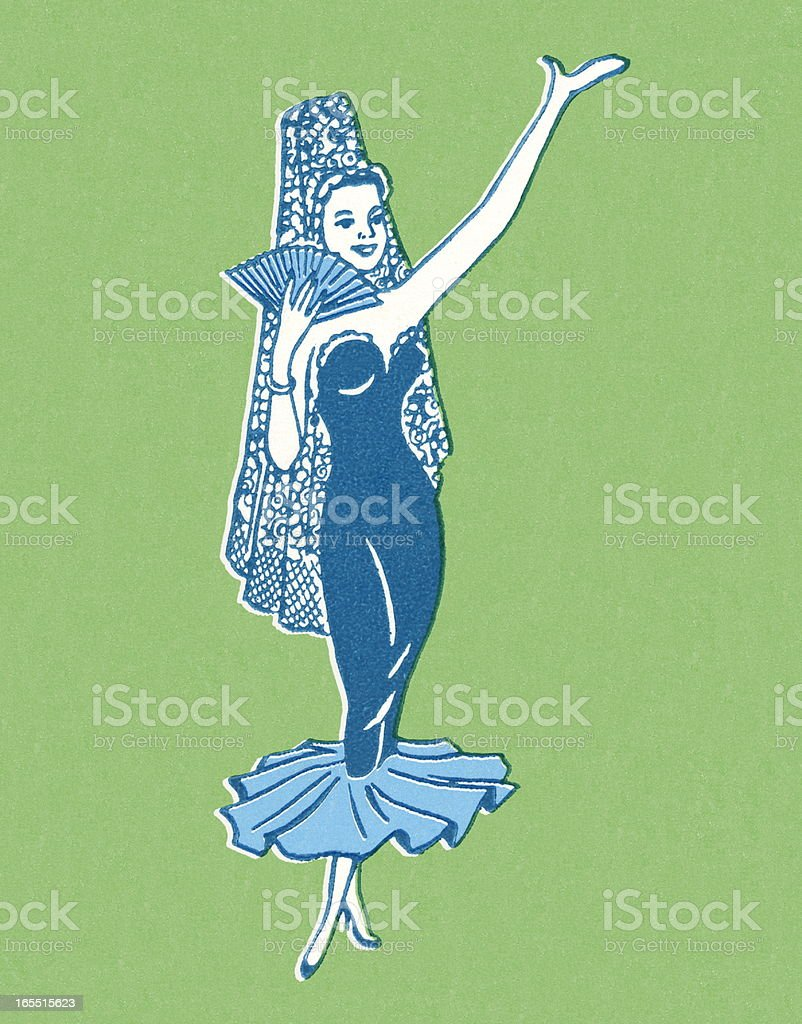 Dancer Wearing a Costume royalty-free stock vector art